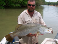 Barramundi fishing charters on the Daly River